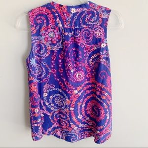 Lilly Pulitzer Tops - Lilly Pulitzer Raleigh Silk Floral Top